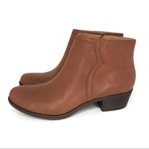 Lucky Brand Balexa Leather Ankle Bootie Toffee NEW
